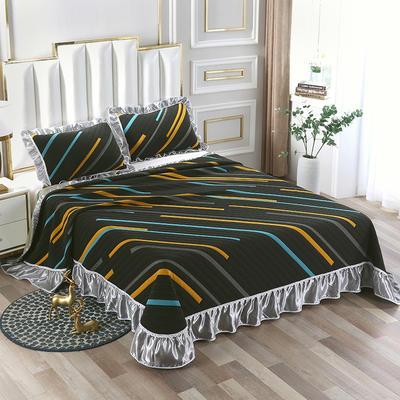 2020新款北欧风针织棉床盖三件套 230x245cm三件套 安吉拉