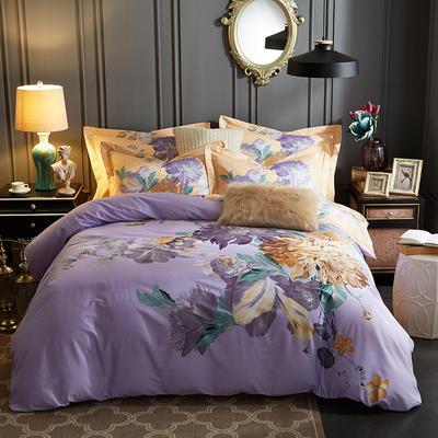 2019新款 -13372年40匹馬棉大版花四件套第一批 床單款1.8m(6英尺)床 醉芙蓉