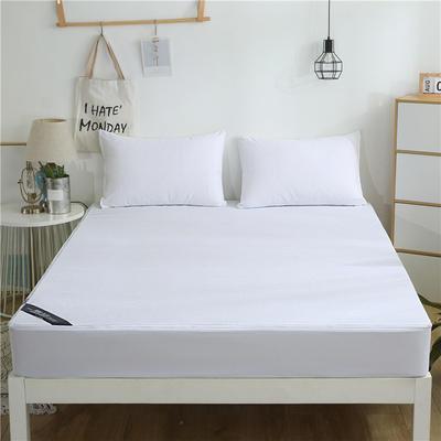 2019新款六面毛巾布全包防水床笠 120cmx200cm高度20 白色