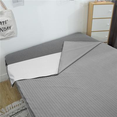 2019新款六面毛巾布全包防水床笠 120cmx200cm高度20 灰色