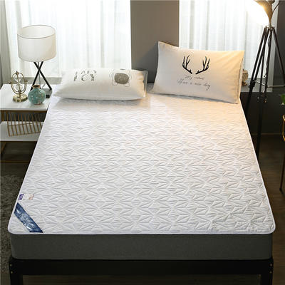 2019新款压花磨毛防水床垫 120cmx200cm 白色