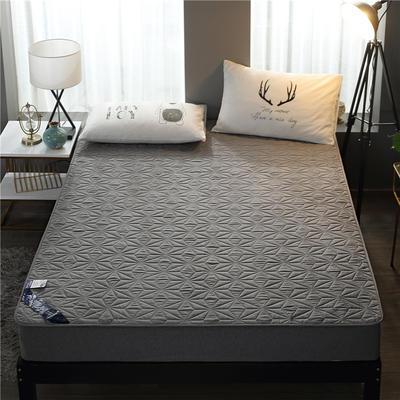 2019新款磨毛防水床垫 可定制任意尺寸 灰色