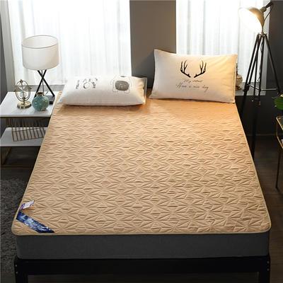2019新款磨毛防水床垫 可定制任意尺寸 驼色