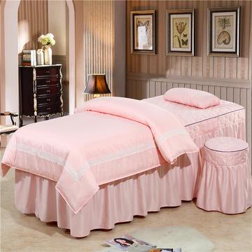 2019新款60S天丝蕾丝花边款美容院按摩床罩