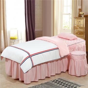 2019新款60S天丝时尚英伦款美容院按摩床罩