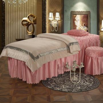 2019新款水晶绒超柔美容床罩四件套