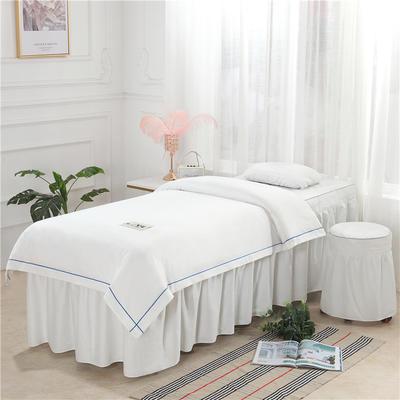 2019新款天丝全棉美容床罩四件套 单被套:110*170尺寸 天丝-白色
