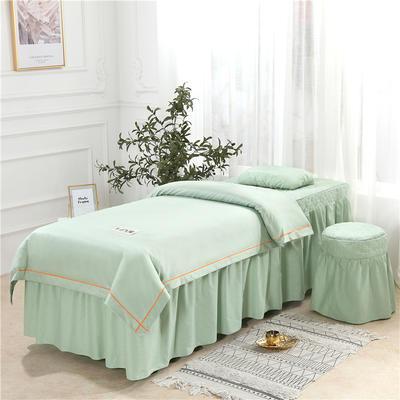 2019新款天丝全棉美容床罩四件套 单被套:110*170尺寸 天丝-翠绿