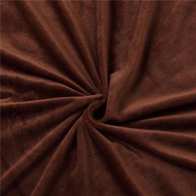 2019新款刺绣双拼love水晶绒美容床罩四件套 单被套(115*175尺寸) 白+咖色
