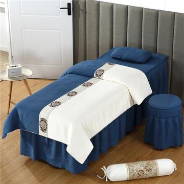 2019新款棉麻中欧式美容床罩