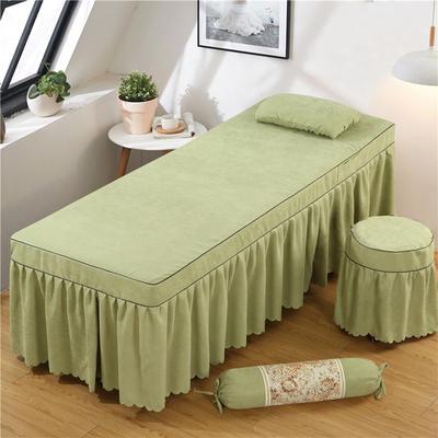 2020新款棉麻单独床罩 70*185cm单床罩 豆绿