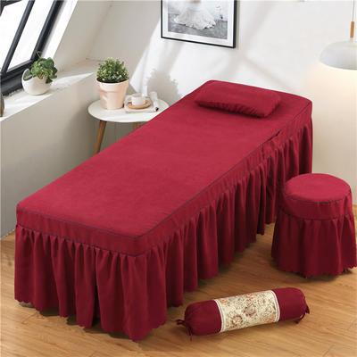 2020新款棉麻单独床罩 70*185cm单床罩 酒红