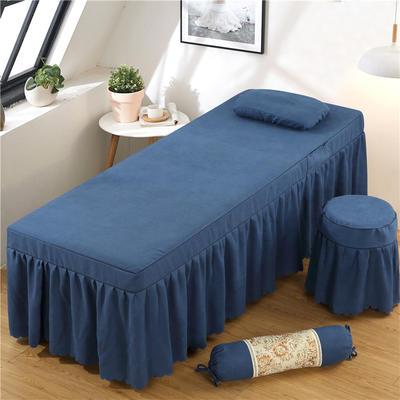2020新款棉麻单独床罩 70*185cm单床罩 蓝灰