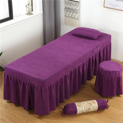 2020新款棉麻单独床罩 70*185cm单床罩 深紫色