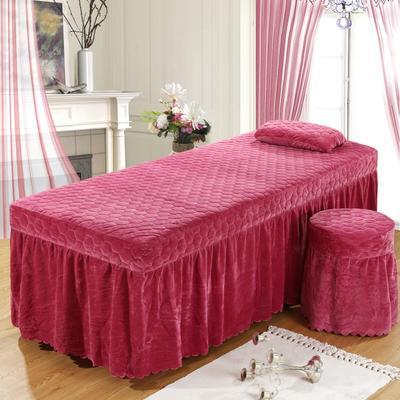 2020新款水晶绒单独床罩 70*185cm单床罩 红豆沙