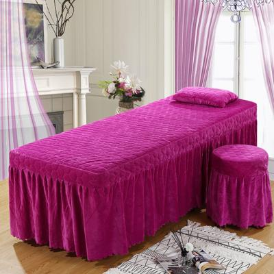 2020新款水晶绒单独床罩 70*185cm单床罩 红雪青