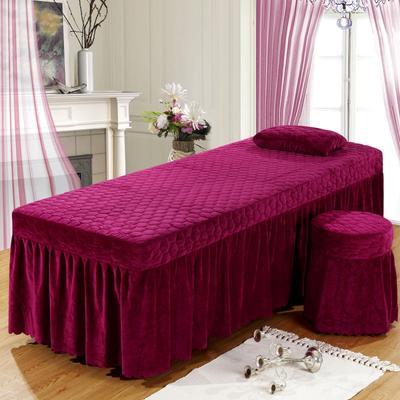 2020新款水晶绒单独床罩 70*185cm单床罩 酒红