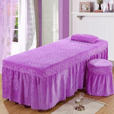 2020新款水晶绒单独床罩 70*185cm单床罩 浅紫色