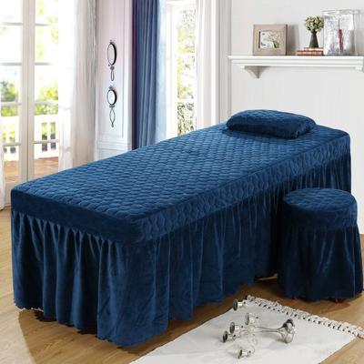 2020新款水晶绒单独床罩 70*185cm单床罩 深蓝