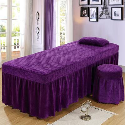2020新款水晶绒单独床罩 70*185cm单床罩 深紫