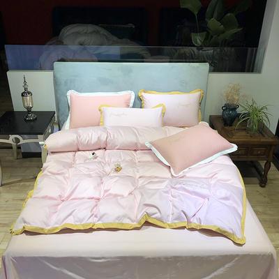 2020新款13372精梳全棉四件套-春色浪漫系列 1.8m(6英尺)床 玉色