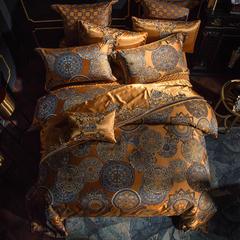高精密色织大提花四  六  八 多件套(西雅图) 小抱枕 西雅图---尊贵金