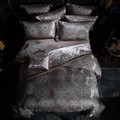 2018新品高精密色织大提花多件套--西雅图 1.5m床单款四件套 西雅图--银灰