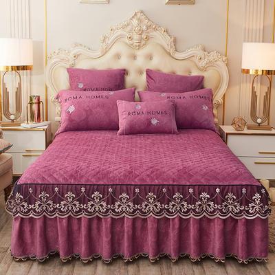 2020新款花的故事系列床裙 150cmx200cm单床裙 花的故事-豆沙