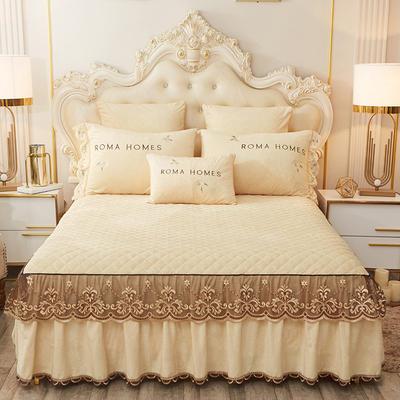 2020新款花的故事系列床裙 150cmx200cm单床裙 花的故事-米黄