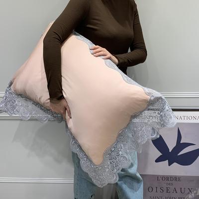 2020新款卡瑞尔蕾丝枕套(实拍图) 48cmX74cm/对 豆沙粉