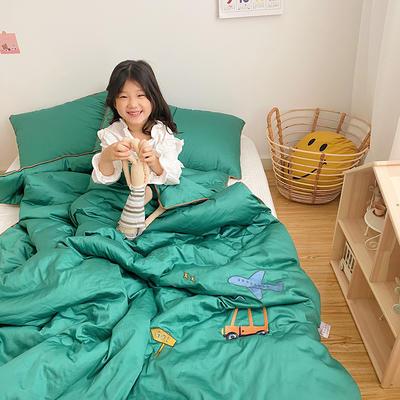 2020新款秋冬新品儿童被被子被芯 150x200cm重5.6斤 翠绿
