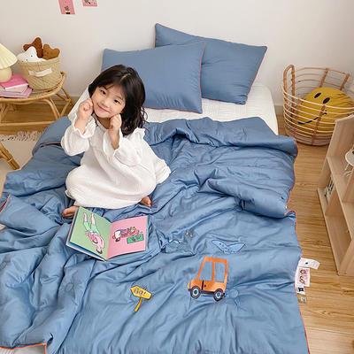 2020新款秋冬新品儿童被被子被芯 150x200cm重5.6斤 蓝色