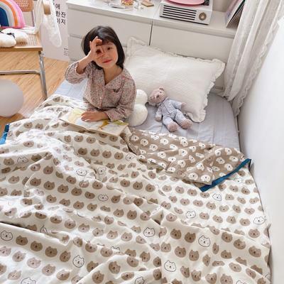 2021新款长绒棉儿童夏被 150x200cm 口袋熊