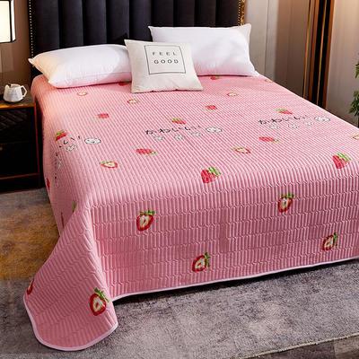 2020新款单双人夏凉被夏被空调被可水洗床盖 150cmx200cm 草莓