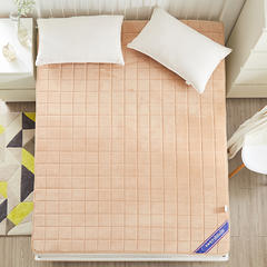 2018新款-宝宝绒记忆慢回弹两用床垫 0.9*2.0米 驼色