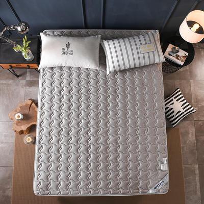 2019新款-英威达全棉抗菌床垫(薄款) 0.9*2.0米 灰色