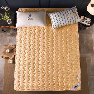 2019新款-英威达全棉抗菌床垫(薄款) 0.9*2.0米 驼色