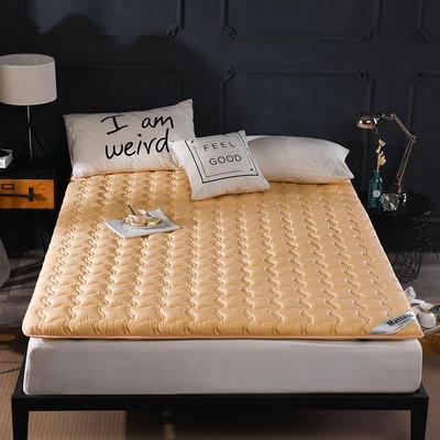 2019新款-英威达全棉抗菌床垫纯色(厚款) 0.9*2.0米 驼色