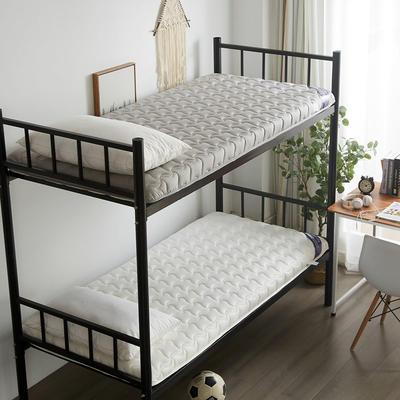 2019新款-全棉英威达加厚学生床垫 0.9*2.0/0.9*1.9 灰色