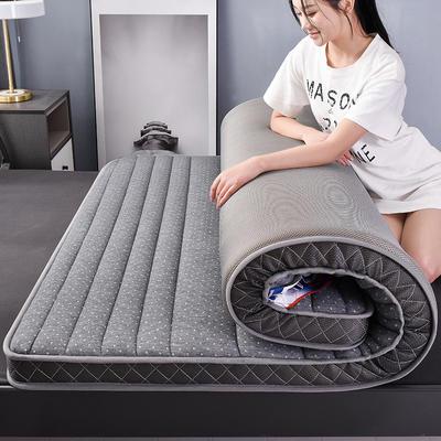 2020乳胶立体记忆海绵床垫 0.9*2.0/0.9*1.9 空间-灰色9CM