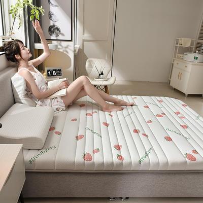 2020乳胶三明治加厚床垫 0.9*2.0/0.9*1.9 甜心草莓6cm