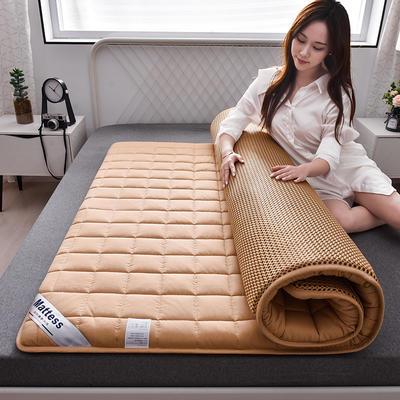 2020新款全棉小方格床垫 0.9*2.0 时尚驼4.5cm