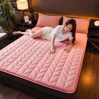 2020新款全棉防水乳胶床垫 0.9*2.0(4.5厘米) 空间-粉