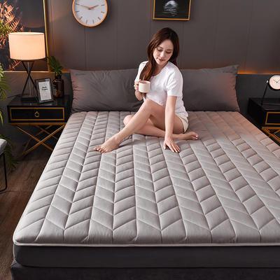 2020新款全棉防水乳胶床垫 0.9*2.0(4.5厘米) 空间-灰