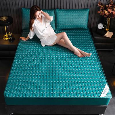 2020新款-乳胶床笠纯色 1.2*2.0 墨绿