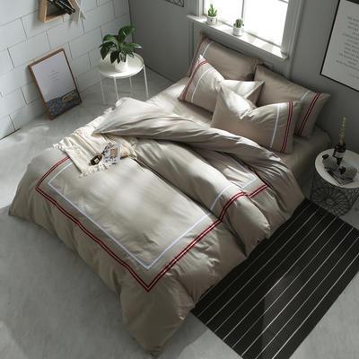 英吉利--简约英伦风四件套 床单款(1.5-1.8米床) 英吉利-浅灰