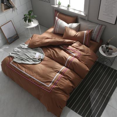 英吉利--简约英伦风四件套 床单款(1.5-1.8米床) 英吉利-浅咖
