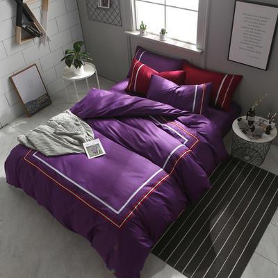 英吉利--简约英伦风四件套 床单款(1.5-1.8米床) 英吉利-深紫
