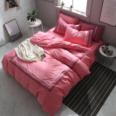 英吉利--简约英伦风四件套 床单款(1.5-1.8米床) 英吉利-西瓜红