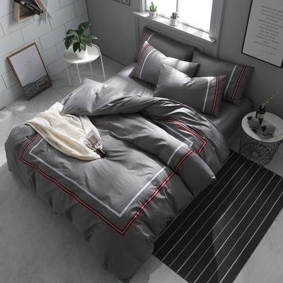 英吉利--简约英伦风四件套 床单款(1.5-1.8米床) 英吉利-银灰